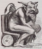 Belphegor, Illustration aus dem Dictionnaire Infernal (1863) © Lizenzfrei