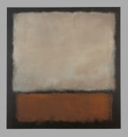 Mark Rothko: No. 7 (Dark Brown, Gray, Orange), 1963. © 1998 Kate Rothko Prizell & Christpher Rothko / Bildrecht, Wien, 2019, Foto: Kunstmuseum Bern.